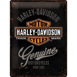 plaque harley davidson genuine logo Hd deco biker garage