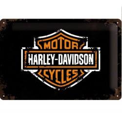plaque harley davidson bar shield 30cm deco garage biker
