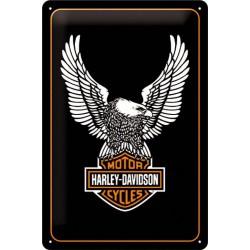 plaque Harley Davidson aigle tole deco garge loft biker  usa