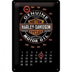 calendrier harley davidson genuine 30cm tole deco garage