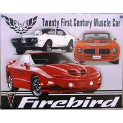 plaque pontiac firebird twenty first century muscle car tole