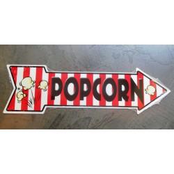 plaque popcorn fleche tole deco bar cuisine restaurant usa