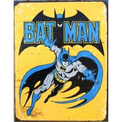 plaque super hero batman jaune viellit tole affiche usa