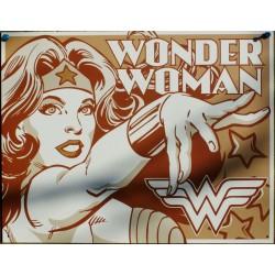 plaque super hero wonder women grise affiche tole usa