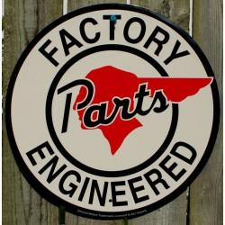 plaque pontiac blanche factory parts tole deco usa loft bar