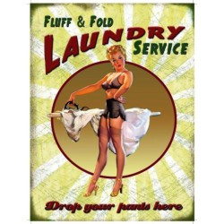 plaque pin up repassage laundry service tole pub sexy hot