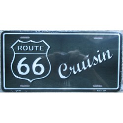 plaque d'immatriculation route 66 cruising tole deco bar usa