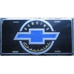 plaque d'immatriculation chevrolet genuine bleu affiche tole