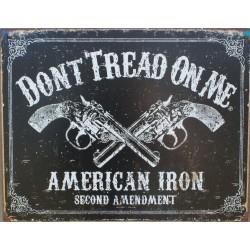 plaque flingues colt noir don't tread on me american iron
