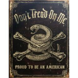 plaque serpent  et os de pirate don't tread on me tole usa