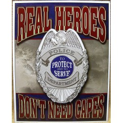 plaque police real heroes logo protect and serve tole usa
