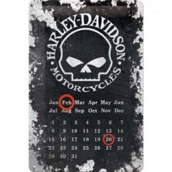 calendrier harley davidson skull crane plaque tole affiche