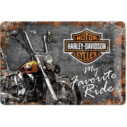 plaque harley davidson moto et logo my favorite ride tole