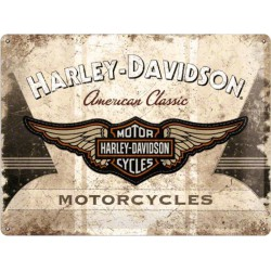 plaque harley davidson motorcycle beige american classic usa