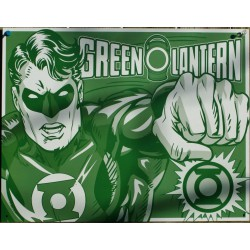 plaque super hero green lantern verte affichet tole chambre