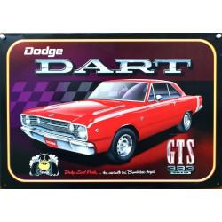 plaque dodge dart GTS rouge tole deco garage loft bar usa