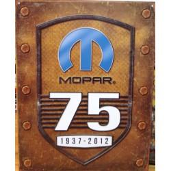 plaque mopar 75th anniversaire deco tole logo usa garage