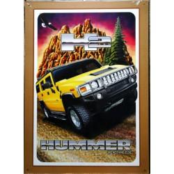 plaque hummer jaune h2 deco garage 4xs amaericain usa