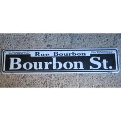 plaque de rue bourbon street tole pub deco diner loft bar us