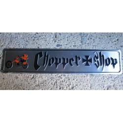 plaque de rue chopper shop tole deco biker garage affiche