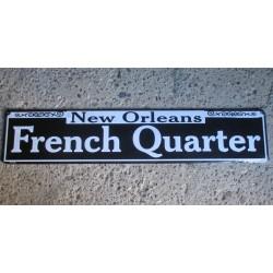 plaque de rue french quarter tole deco metal pub diner bar