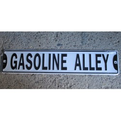 plaque de rue gasoline alley tole deco bar diner loft usa pu