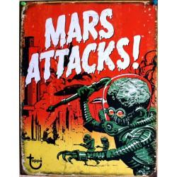 plaque mars attack film fiction  tole affiche  deco pub usa