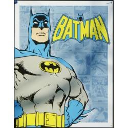 plaque super hero batman en gros plan affiche tole deco usa