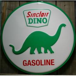 plaque dino sinclair 60cm tole deco garage huile  pub métal