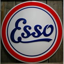 plaque esso 60cm tole deco huile essence station service