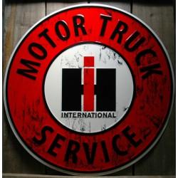 plaque international  motor truck 60cm tole deco garage usa
