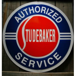 plaque studebaker authorized service 60cm tole deco metal