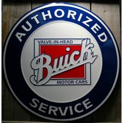 plaque buick authorized service 60cm tole deco garge bar usa