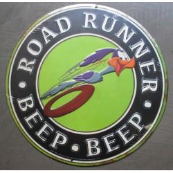 plaque beep beep road runner  en relief deco metal tole rare