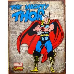 plaque super hero thor les bras croisés sur fond beige usa