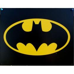 plaque super hero batman logo noir et jaune affiche tole usa