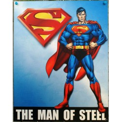 plaque superman the man of steel tole deco metal usa