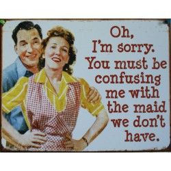 plaque humour the maid you don't have tole deco cuisine usa
