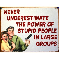 plaque humour stupid people in large group humou tole usa