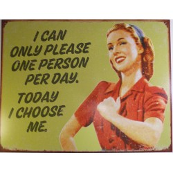 plaque humour today i choose me tole pin up style retro usa