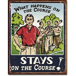 plaque humour what happens on the course tole deco golf usa