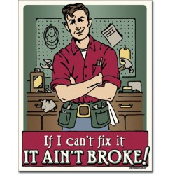 plaque humour bricolage  if i can't fix it tole affiche usa