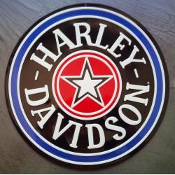 plaque Harley Davidson etoile ronde logo biker motard usa