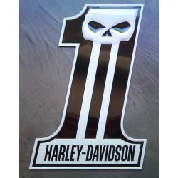 plaque Harley Davidson crane 1 noir blanc tole deco usa loft