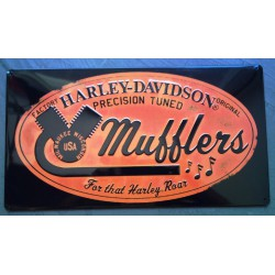 plaque Harley Davidson mufflers pot d'échappement tole pub