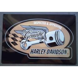 plaque Harley Davidson piston volant genuine hd sign usa