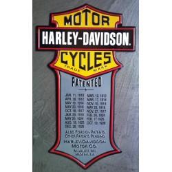 plaque Harley Davidson patented import usa deco garage