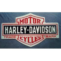 plaque Harley Davidson logo bar shield decoupé pub garage