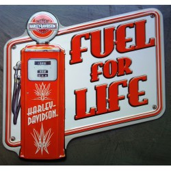 plaque Harley Davidson fuel for life pompe a essence usa