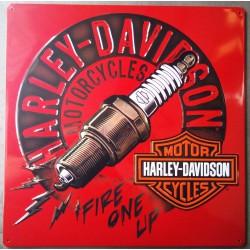 plaque Harley Davidson bougie deco garage biker motard